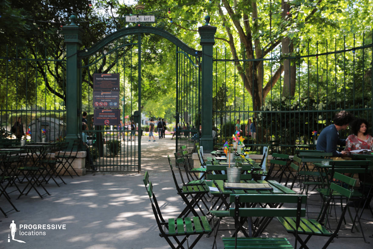 Locations in Budapest: Cafe %26 City Park Entrance