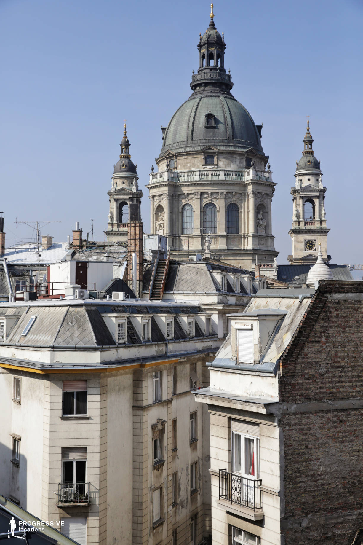 Locations in Budapest: Rooftops with Basilica Dome