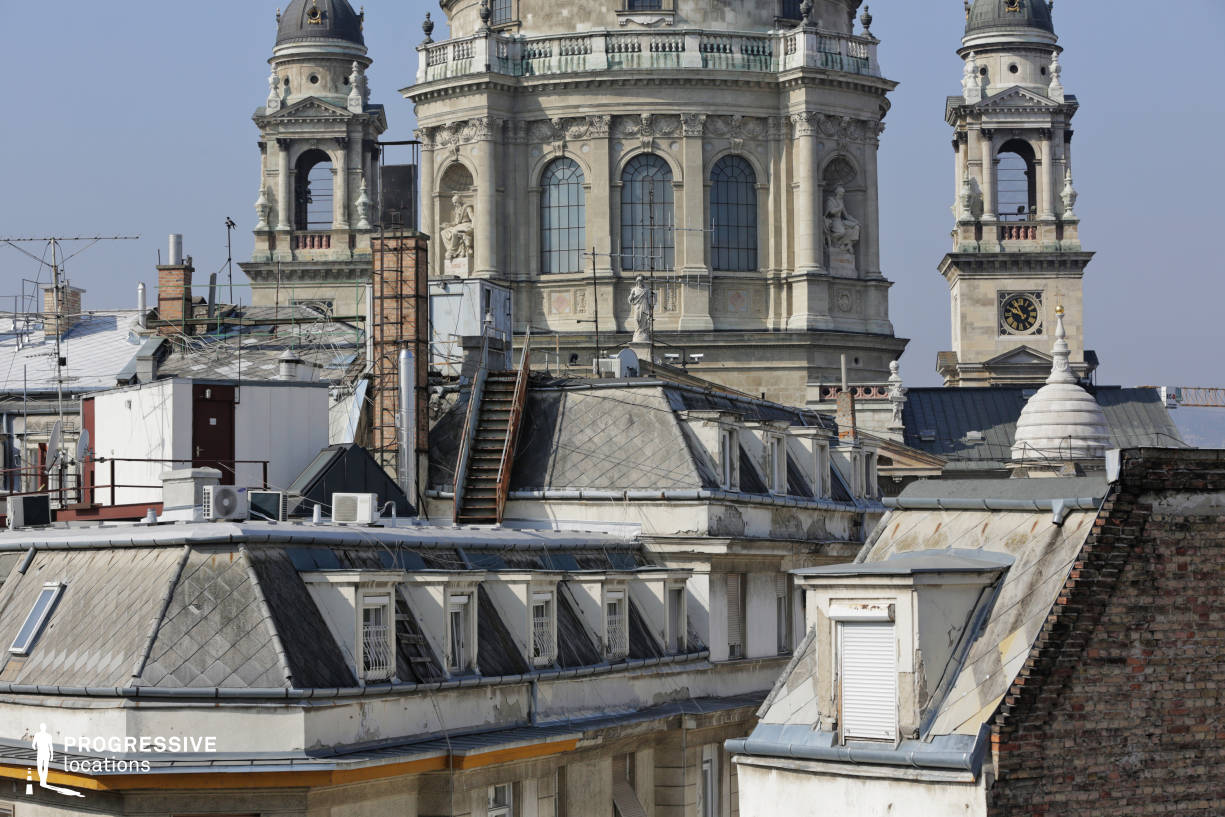 Locations in Budapest: Rooftops with Basilica Tower