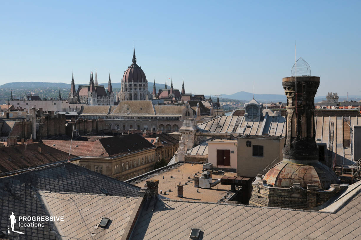 Locations in Budapest: Parliament View, Exchange Palace Rooftop