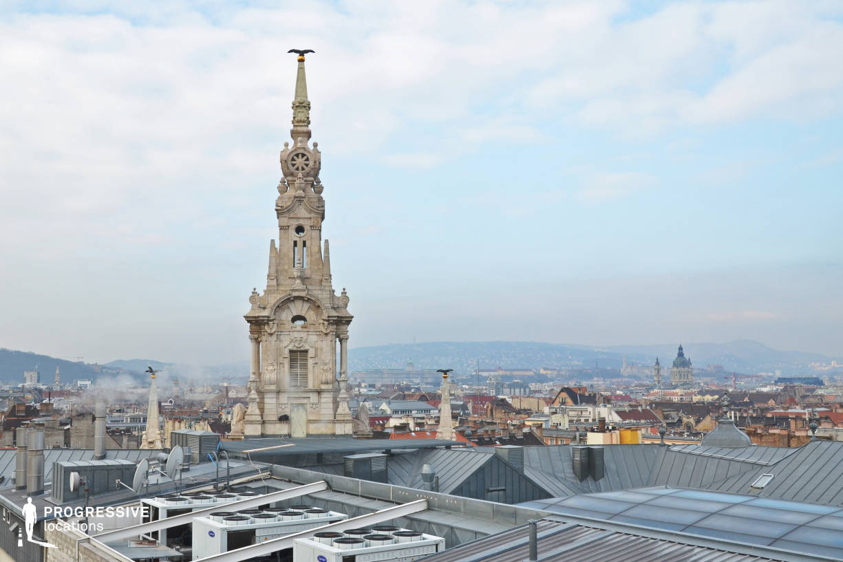 Locations in Budapest: City Panorama, New York Palace Rooftop