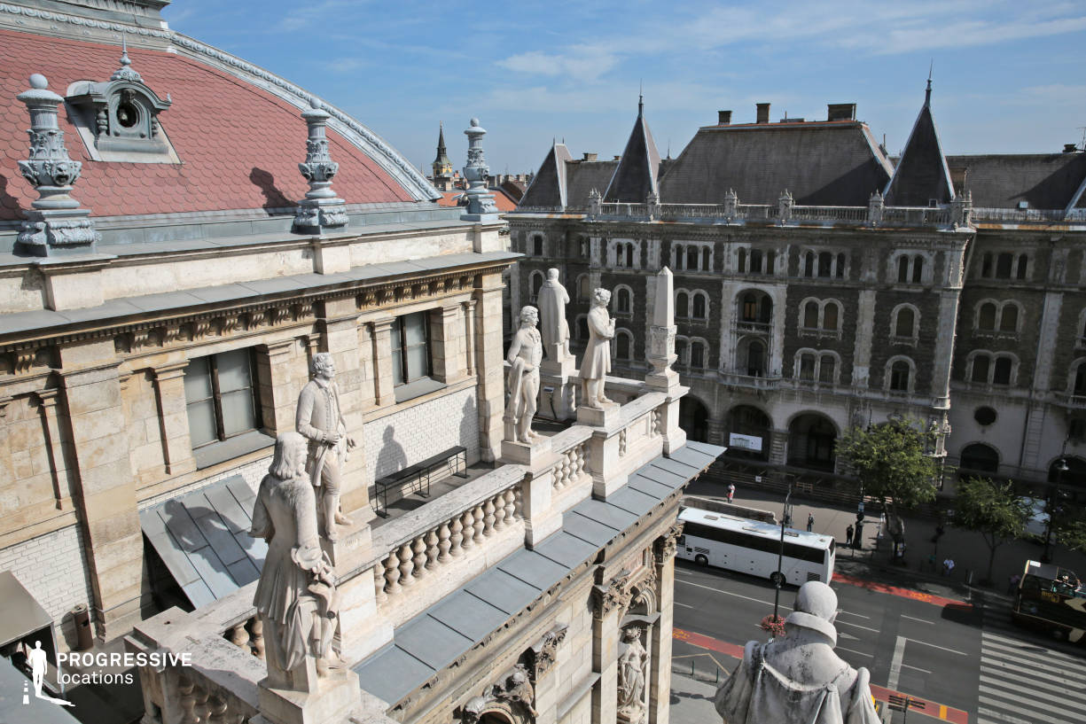 Locations in Budapest: Terrace with Statues, Opera Rooftop