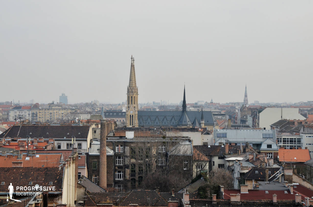 Locations in Budapest: Rooftop %26 Church, Paris Style View