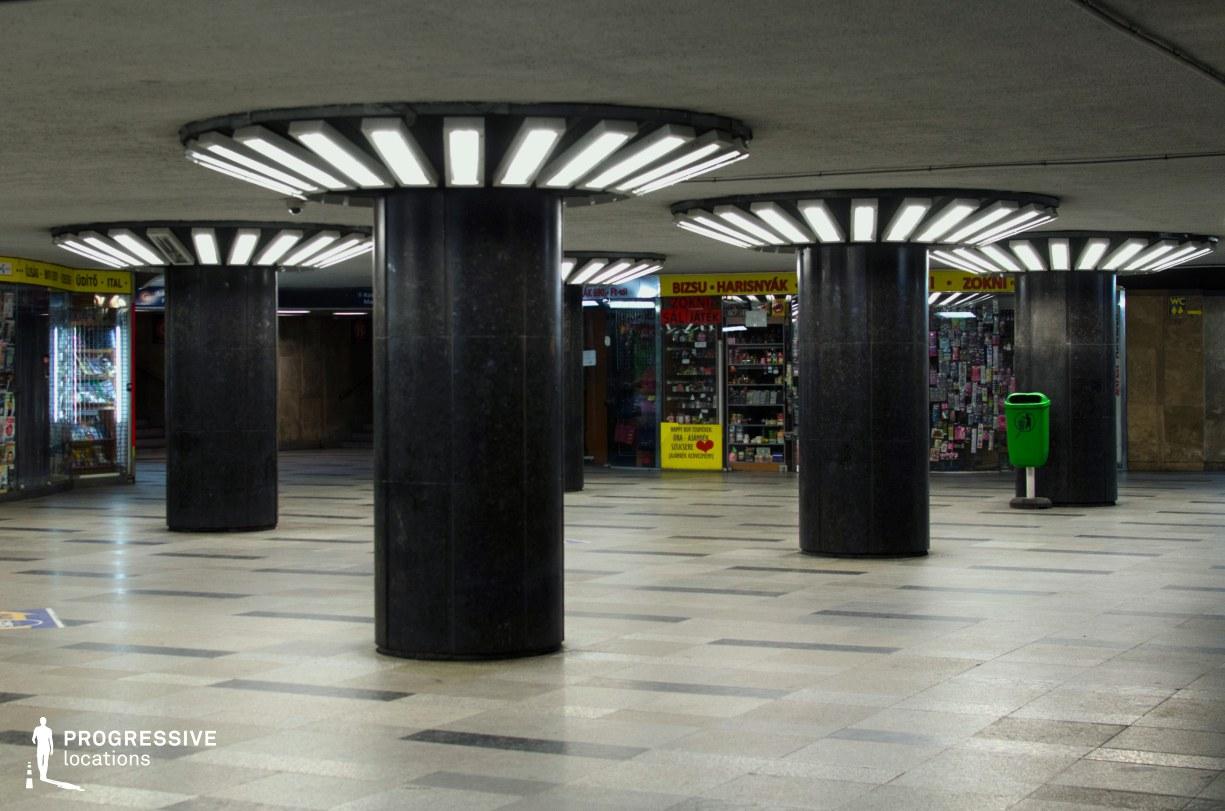 Locations in Budapest: Astoria Underpass Pillars