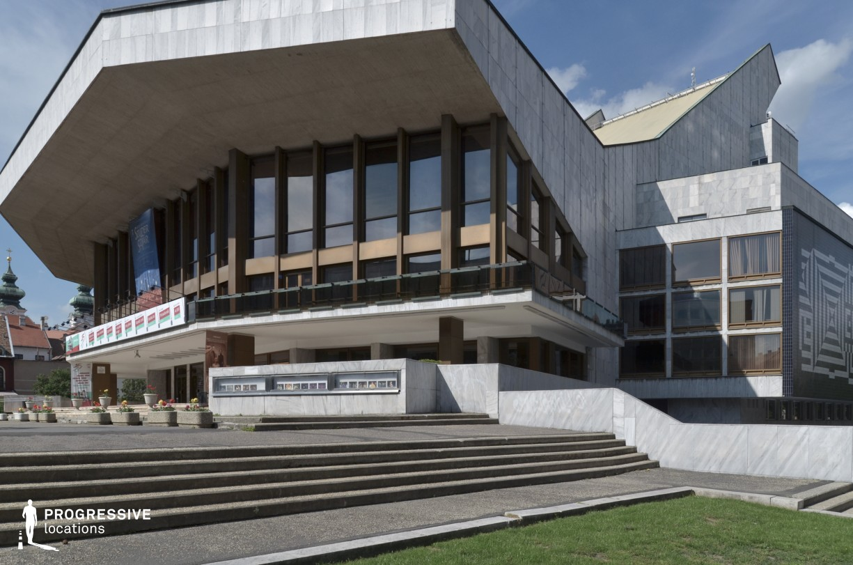 Locations in Hungary: Gyor, National Theatre, Exterior