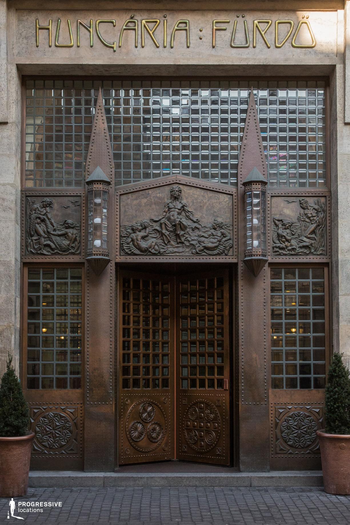 Locations in Budapest: Copper Revolving Door
