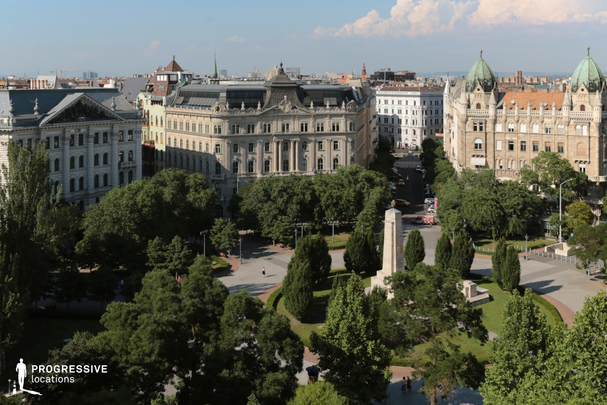 Locations in Budapest: Szabadsag Square %26 Monument (Birds Eye)