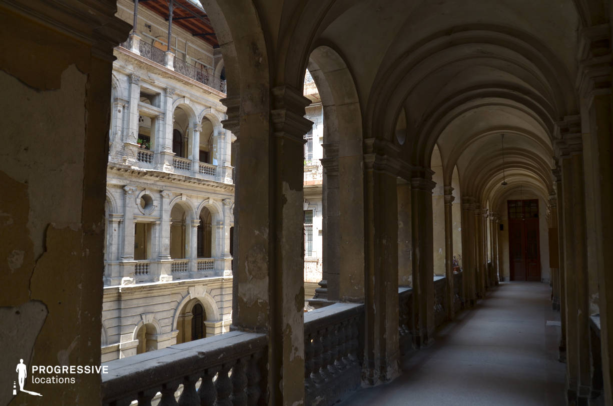 Locations in Budapest: Andrassy Street Courtyard, Arcade
