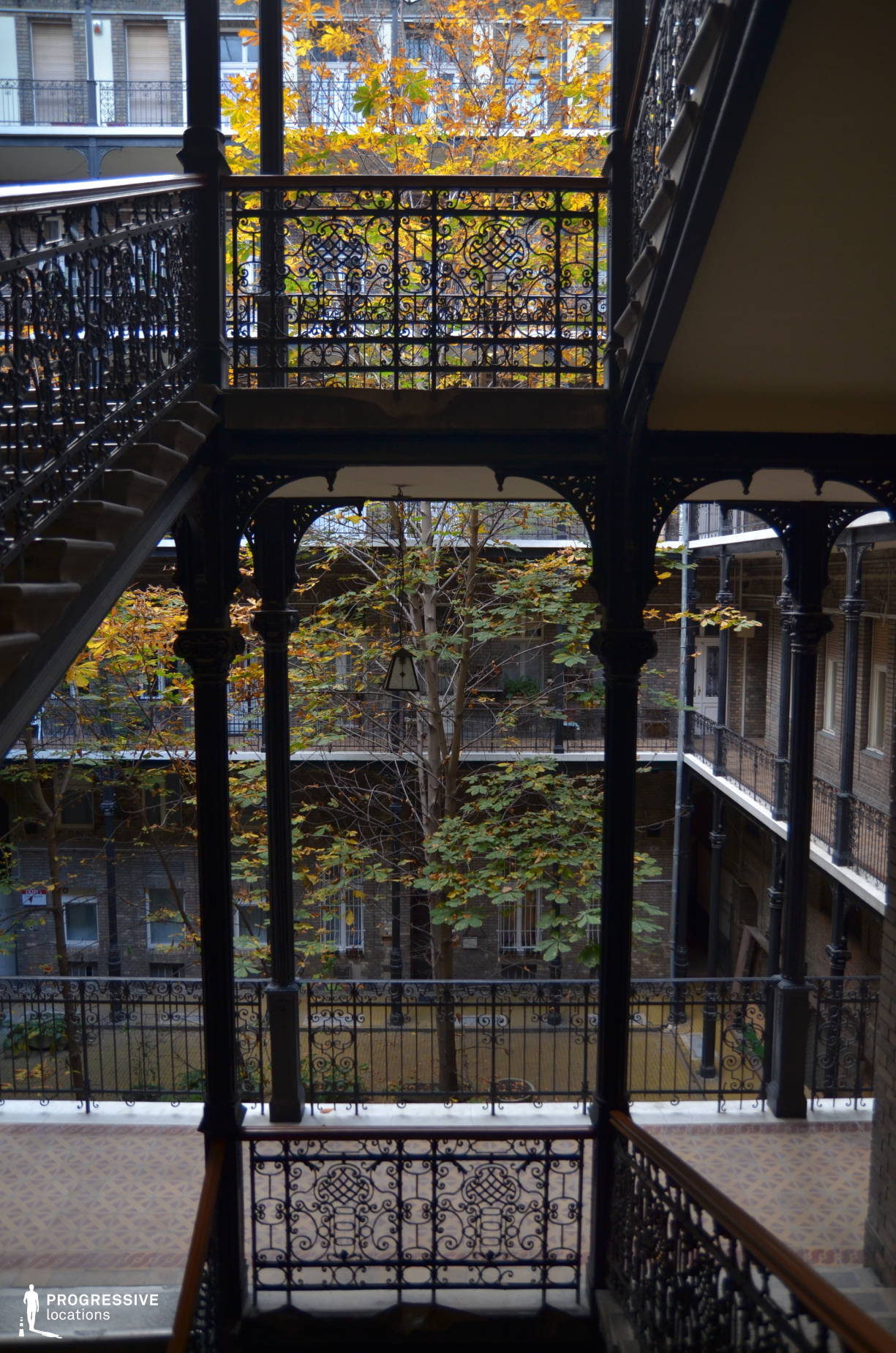 Locations in Budapest: Cast Iron Staircase, Vaci Street