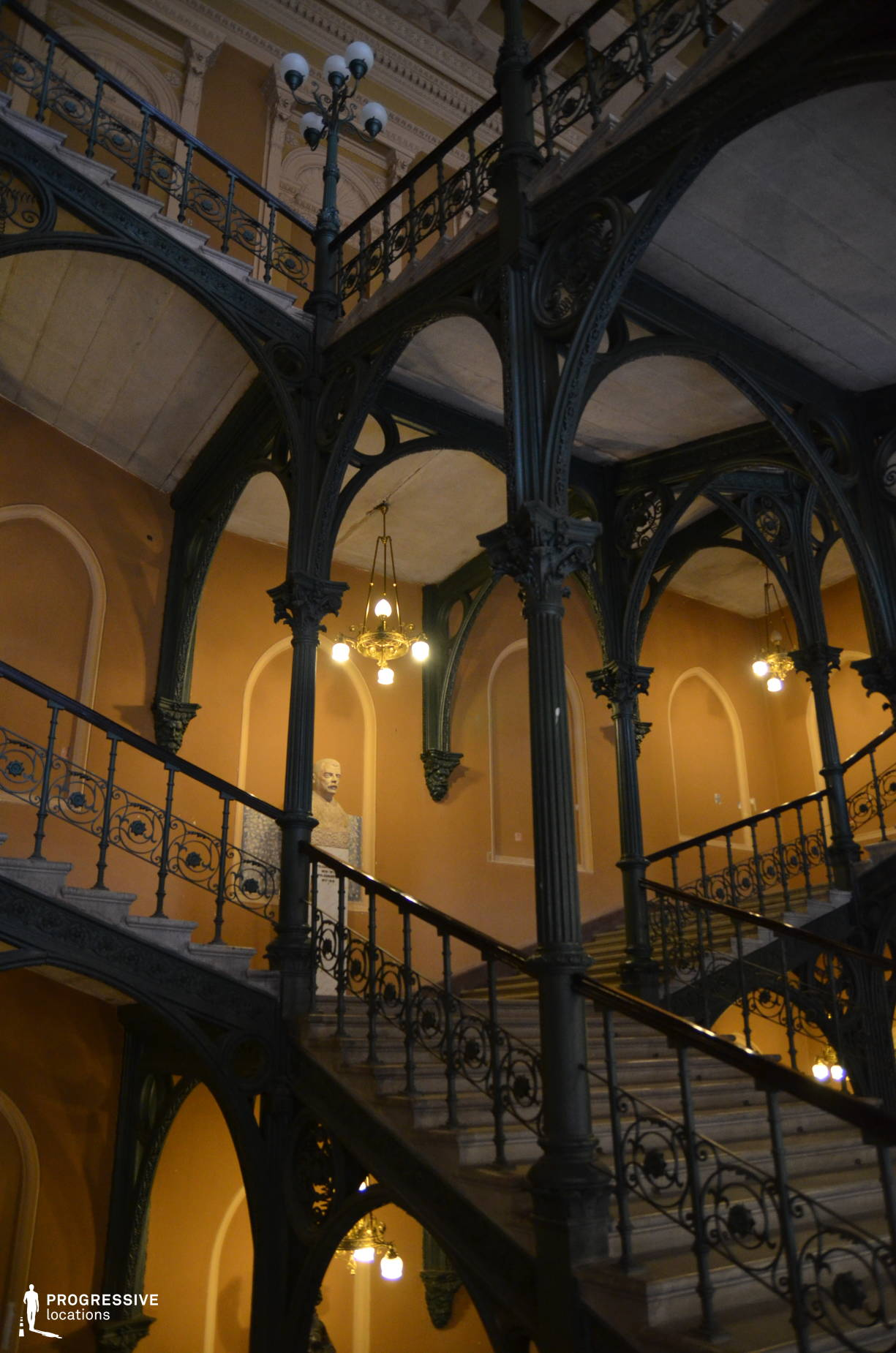 Locations in Budapest: Cast Iron Staircase