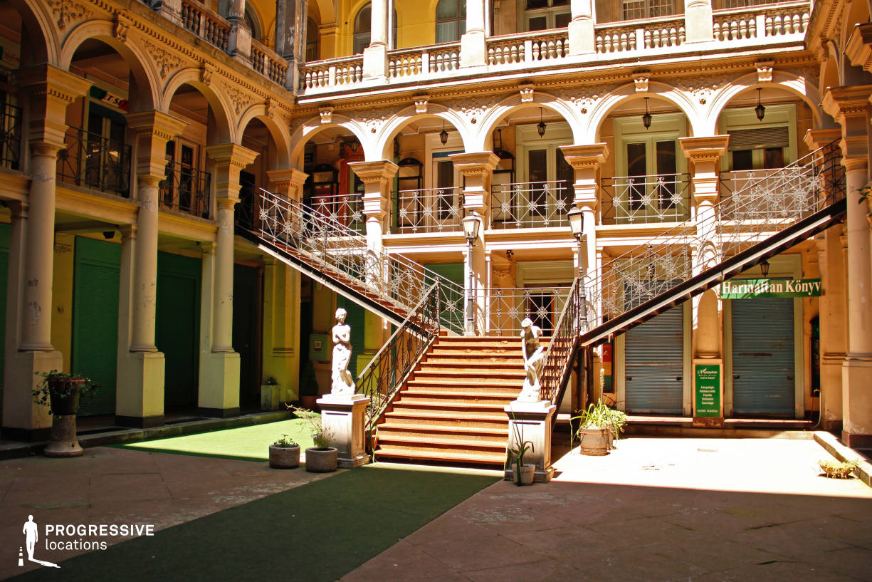 Locations in Budapest: Courtyard, Iron Staircase