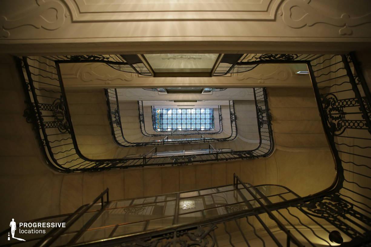 Locations in Budapest: Kossuth Stairs, Gresham Palace