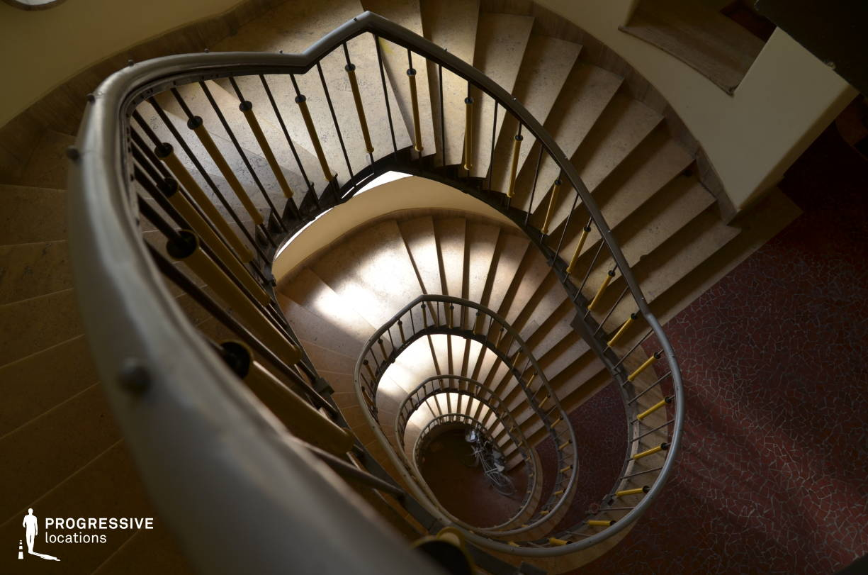 Locations in Budapest: Winding Staircase, Liszt Square