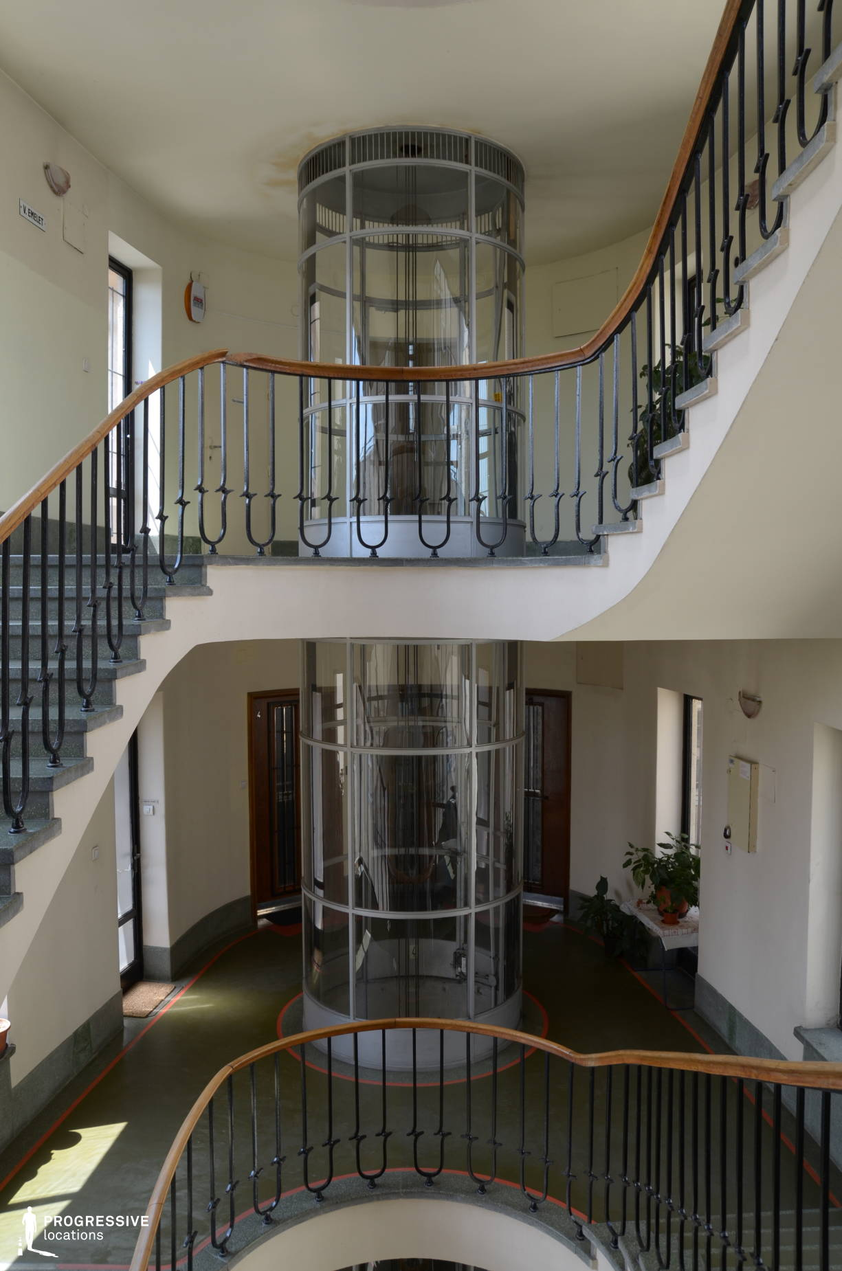 Locations in Budapest: Bauhaus Staircase %26 Elevator