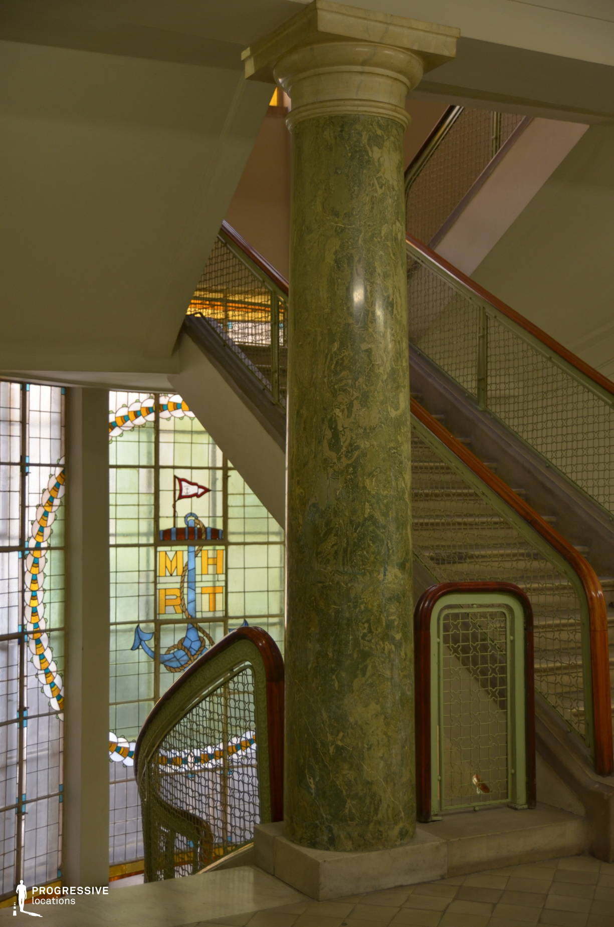 Locations in Budapest: River Shipping Company, Staircase