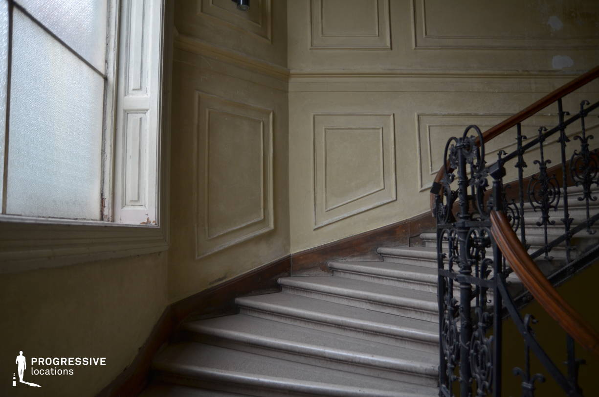 Locations in Budapest: Staircase with Wrought Iron Railing