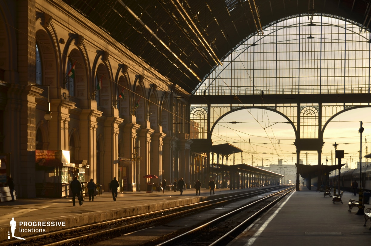 Locations in Budapest: Keleti Train Station, Hall %26 Platform (Sunrise)