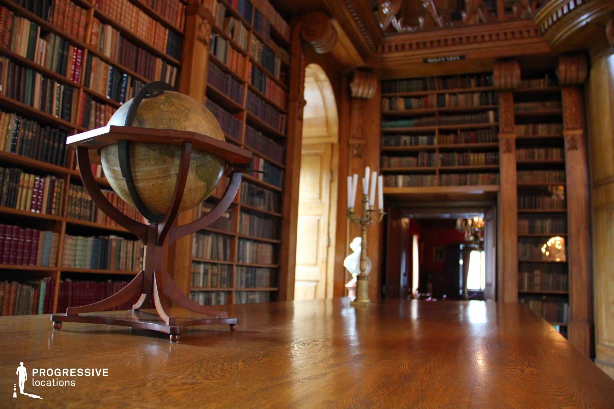 Locations in Hungary: Library %26 Globe, Festetics Palace