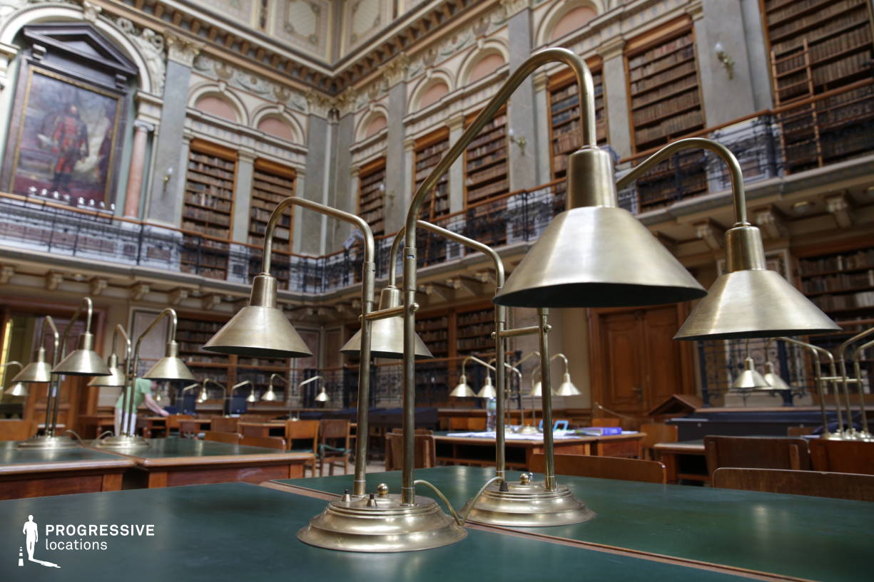 Locations in Hungary: University Library, Reading Room, Desk