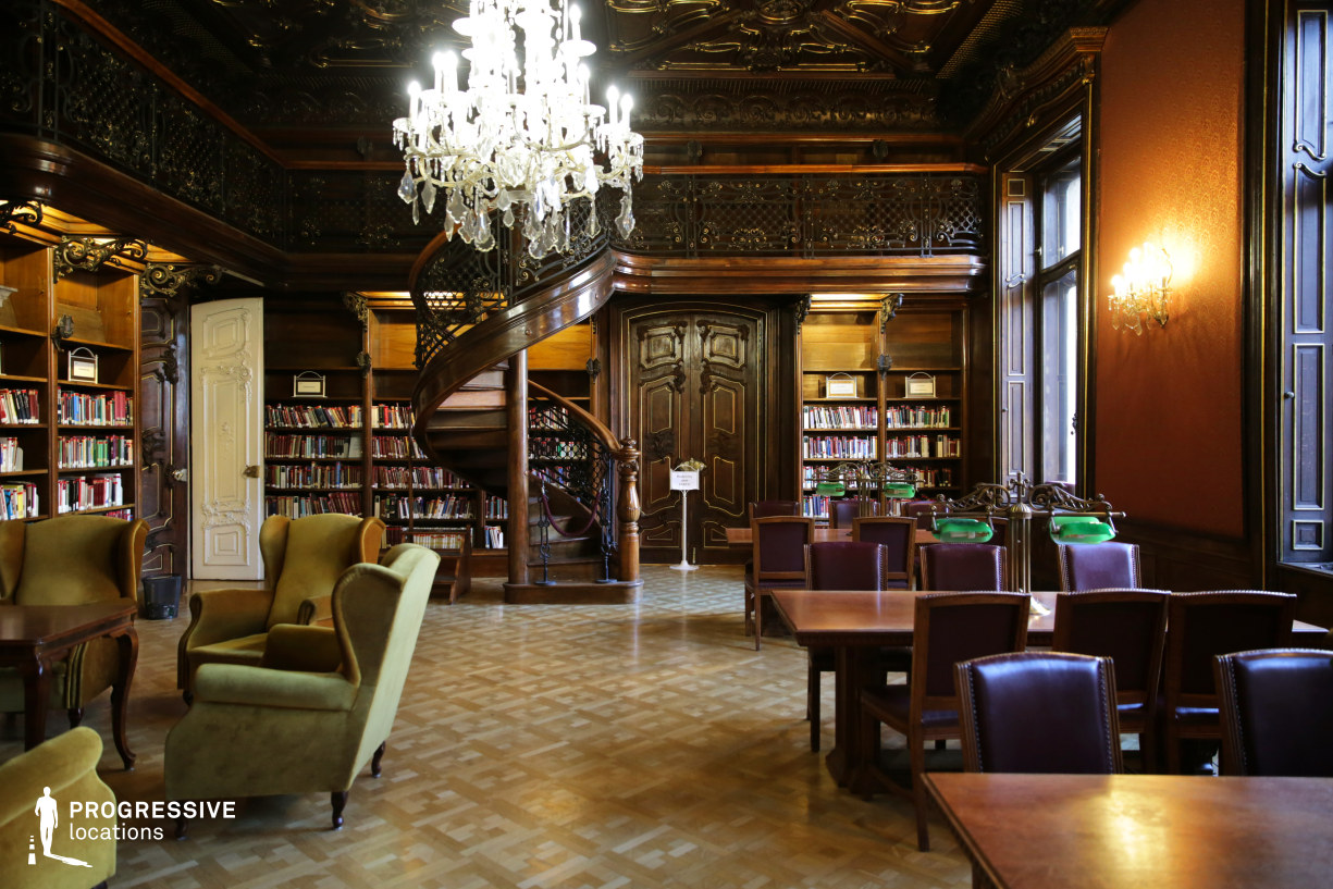 Locations in Hungary: Wenckheim Palace Library, Fireplace