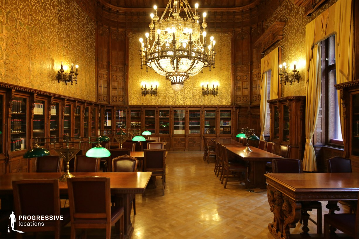 Locations in Hungary: Wenckheim Palace Library, Reading Room