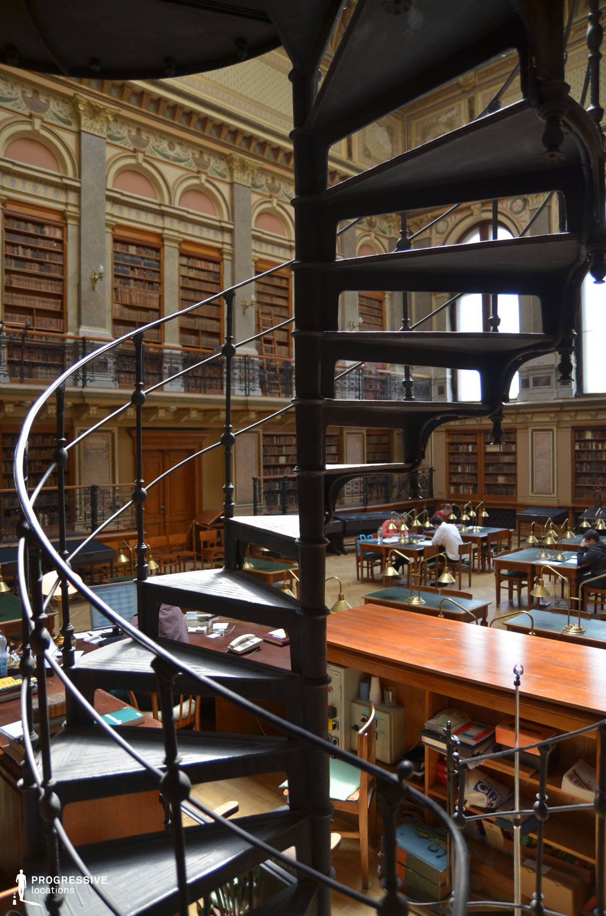 Locations in Hungary: Winding Staircase, University Library
