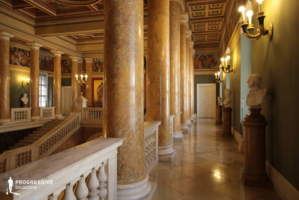 Locations in Hungary: Staircase Columns, National Museum