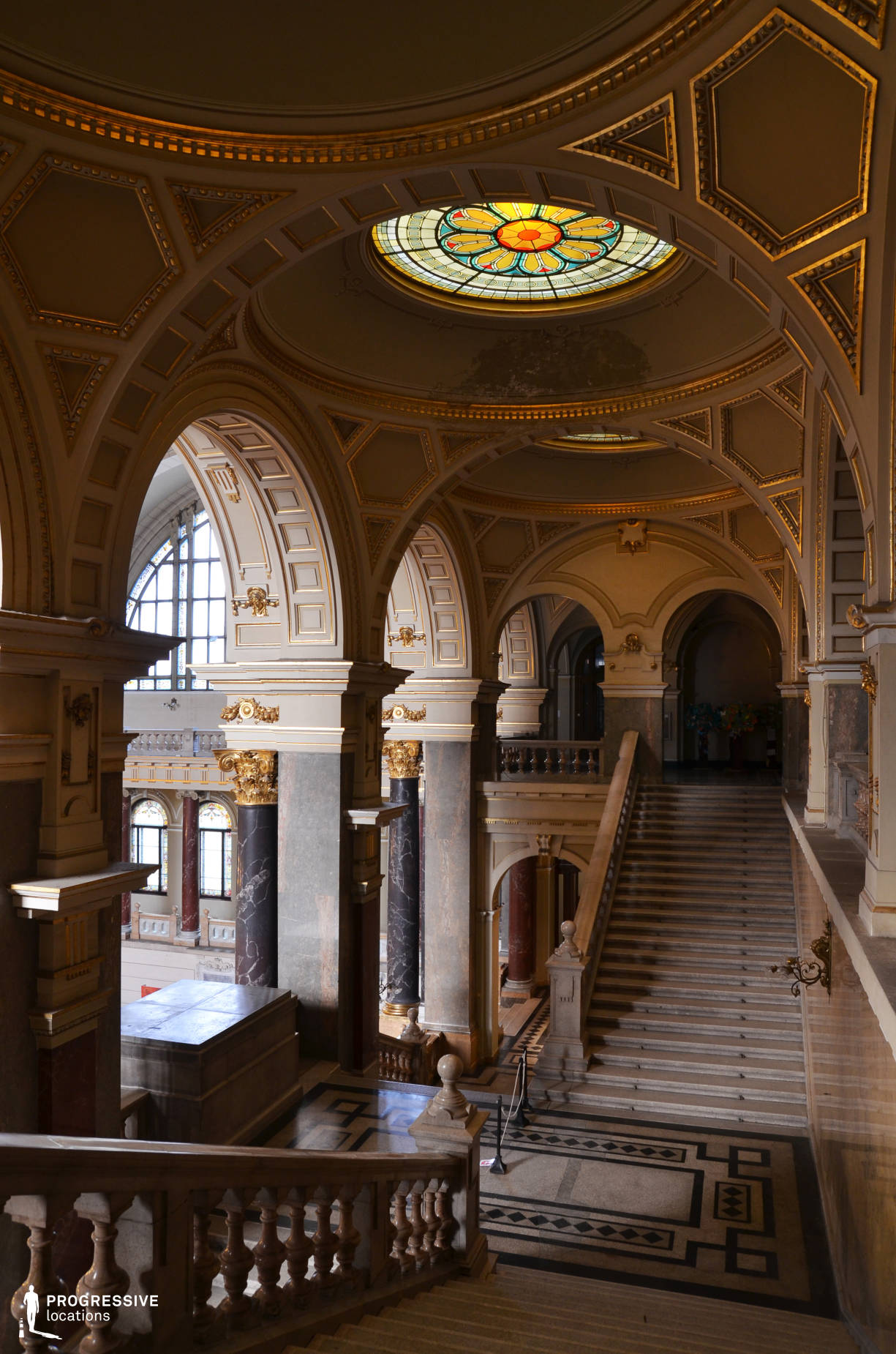 Locations in Hungary: Staircase, Ethnography Museum
