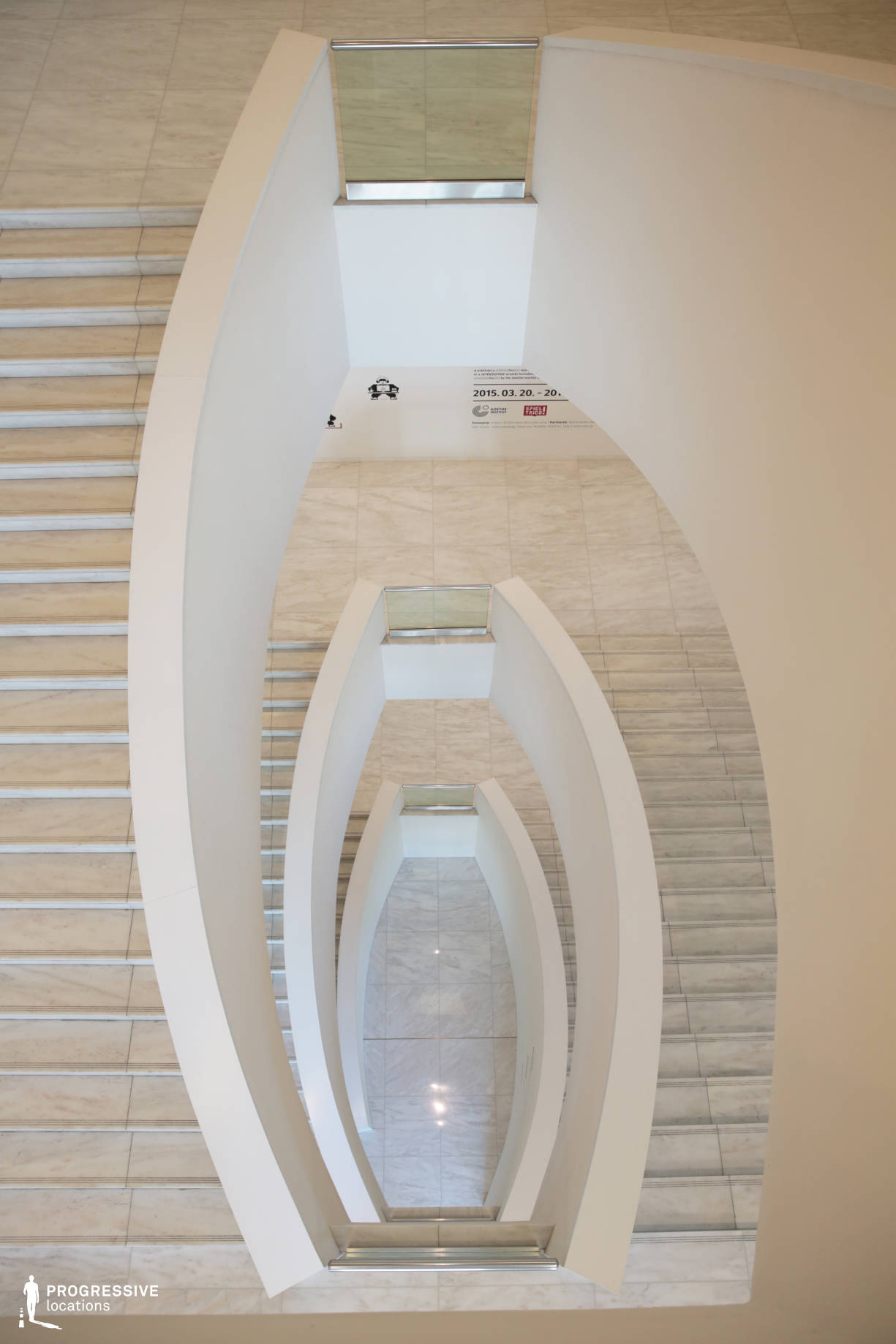 Locations in Hungary: Staircase, Ludwig Museum