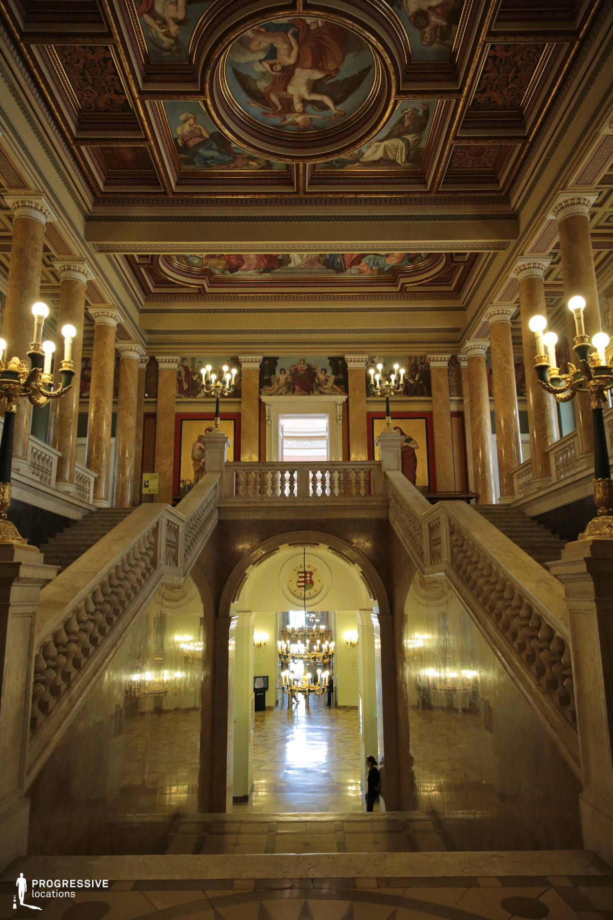 Locations in Hungary: Staircase, National Museum
