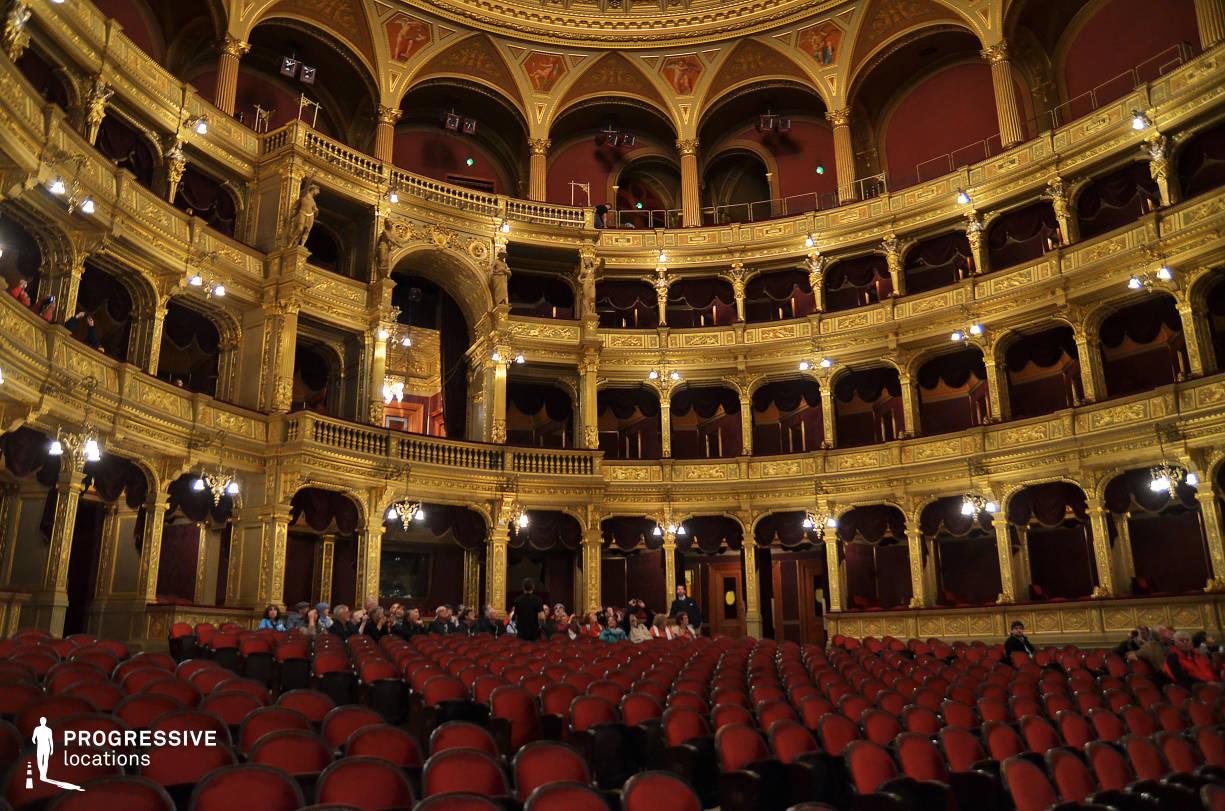 Locations in Hungary: Ornate Auditorium, Opera House