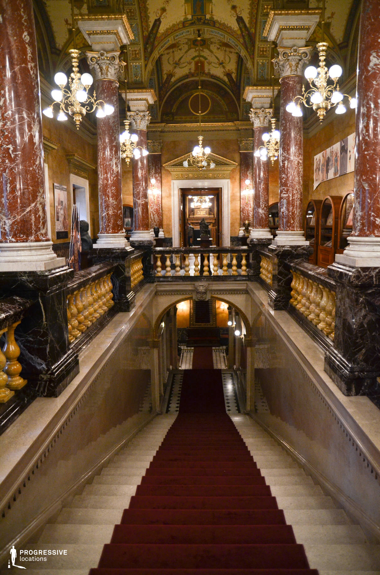 Locations in Hungary: Royal Marble Staircase, Opera House