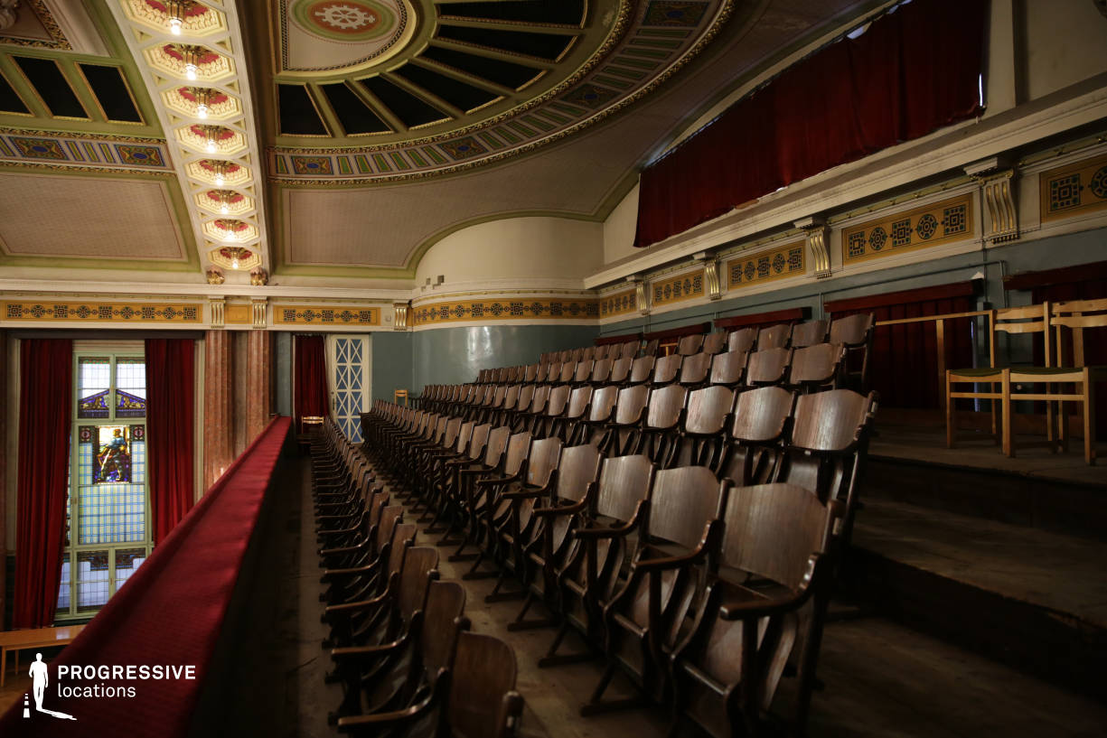 Locations in Hungary: Balcony, Vasas Hall