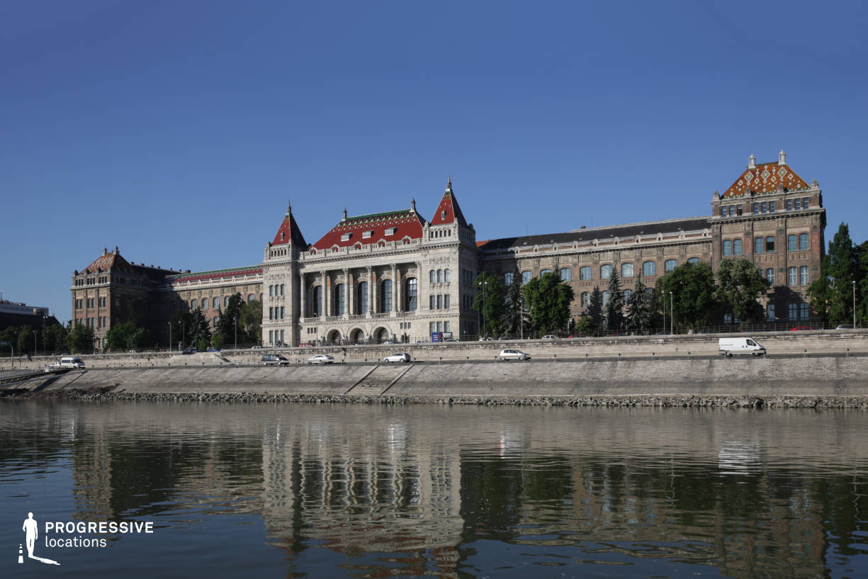 Locations in Hungary: River Danube %26 University Of Technology, Building Facade