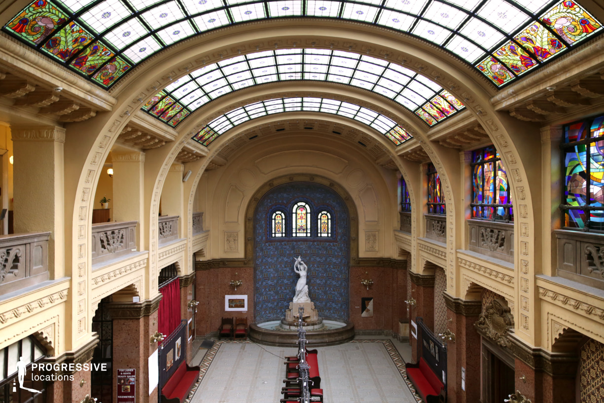 Locations in Hungary: Atrium %26 Glass Roof, Gellert Baths