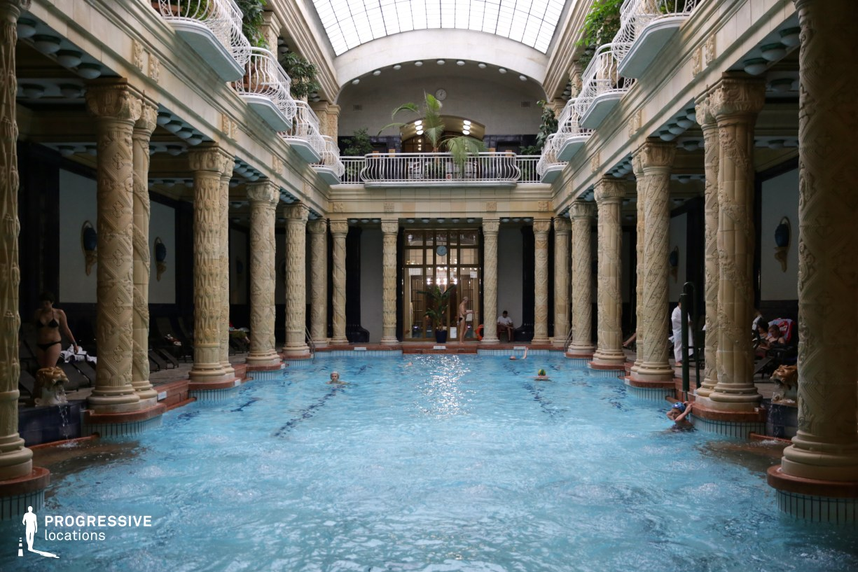 Locations in Hungary: Glass Roof Hall, Gellert Baths