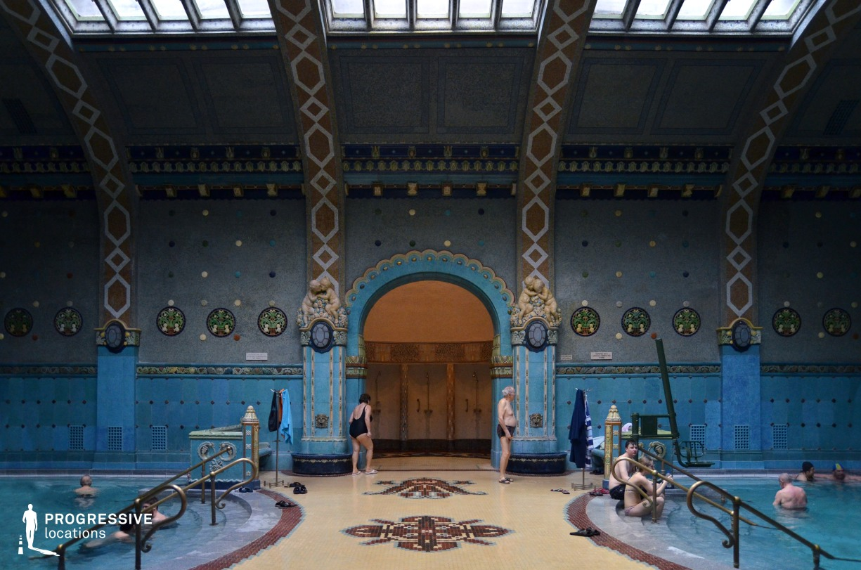 Locations in Hungary: Mosaic Hall, Gellert Baths