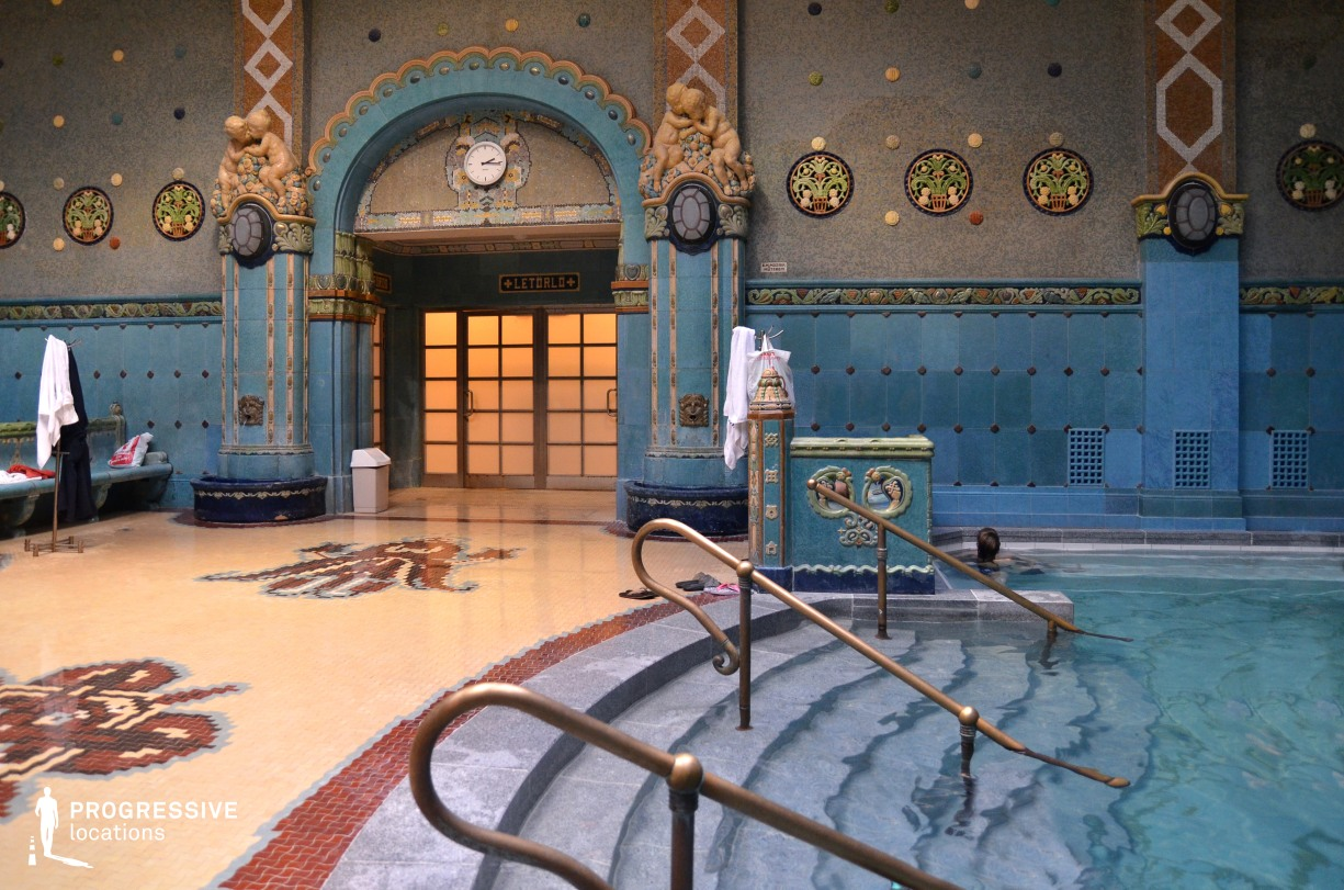 Locations in Hungary: Mosaic Thermal Pool, Gellert Baths