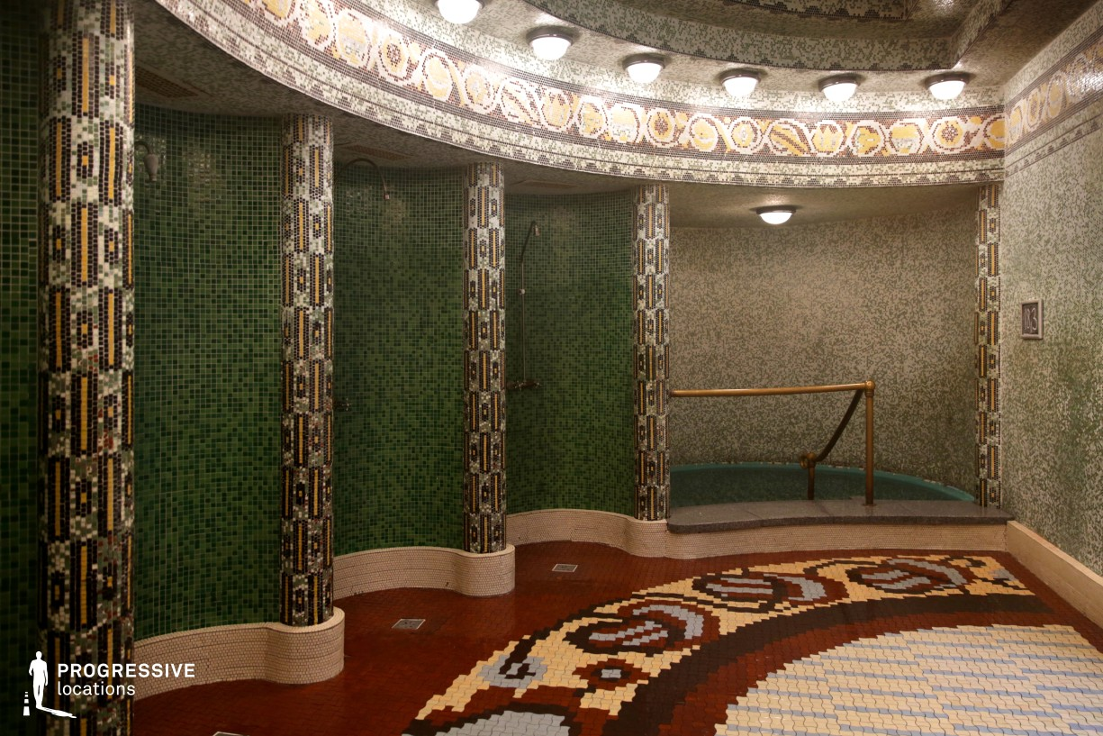 Locations in Hungary: Mosaic Shower Apsis, Gellert Baths