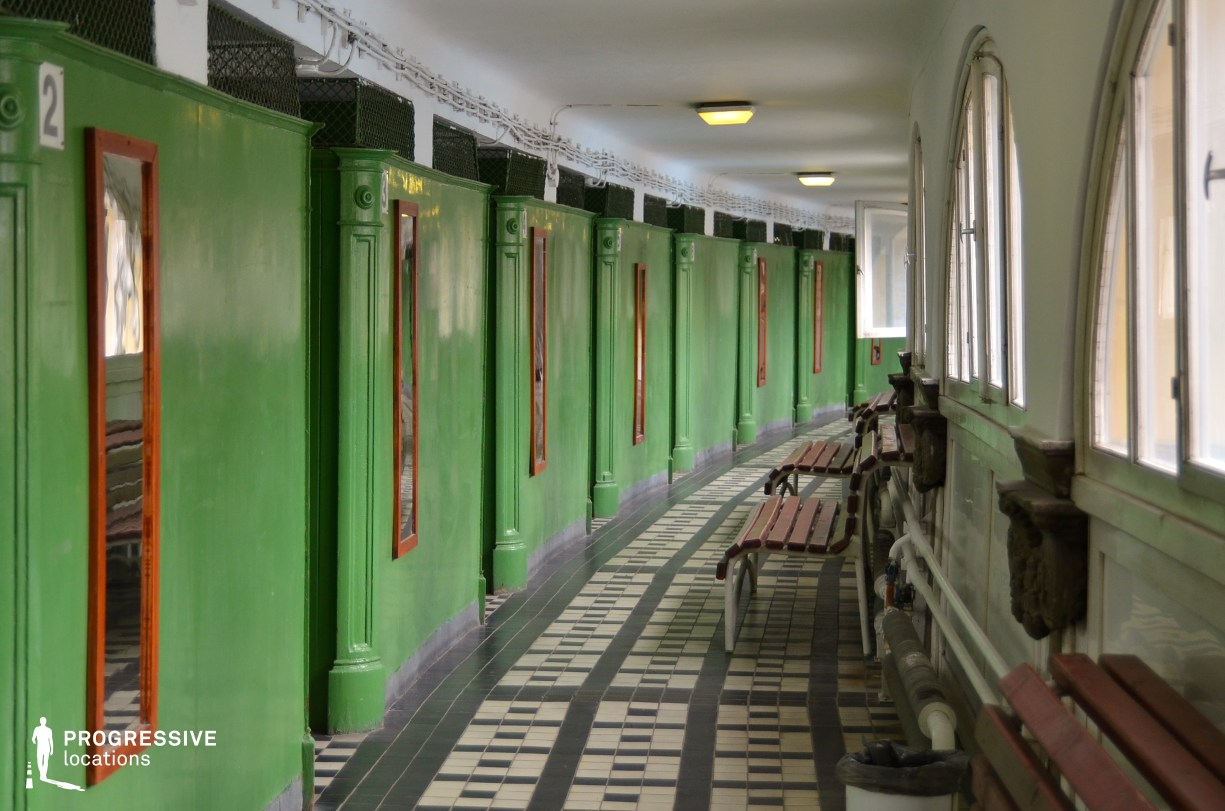 Locations in Hungary: Dressing Cabine Corridor, Szechenyi Bath