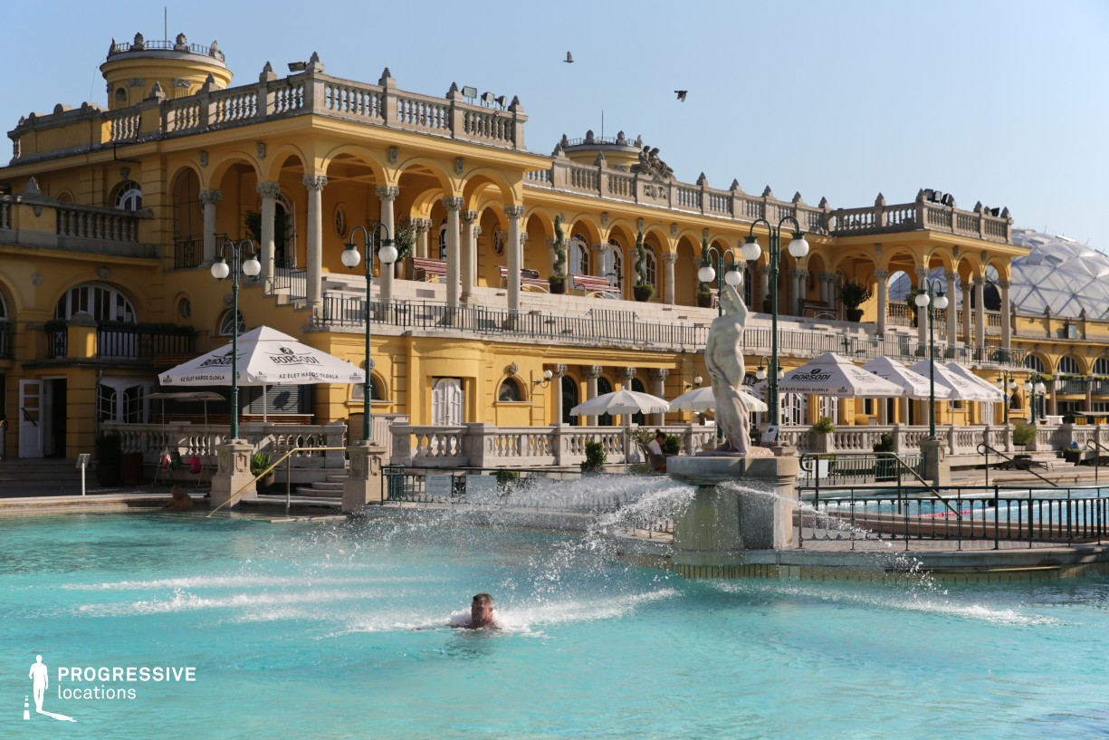 Locations in Hungary: Outdoor Pool, Szechenyi Bath