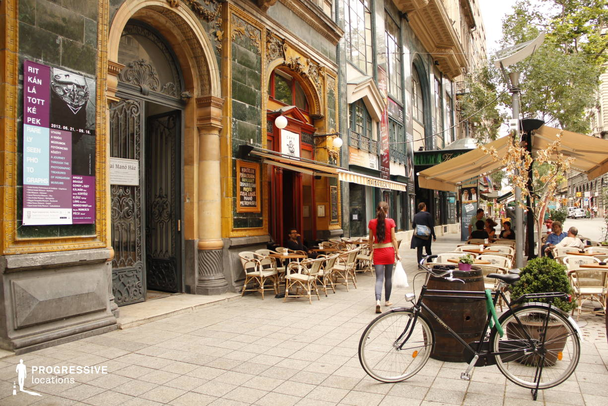 Locations in Hungary: Art Nouveau Terrace, Cafe Mano