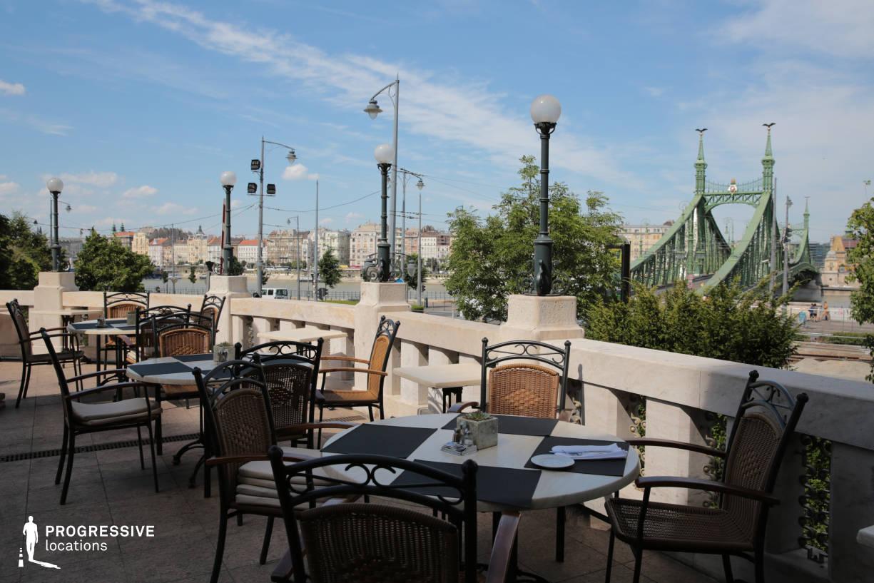 Locations in Hungary: Terrace, Gellert Restaurant