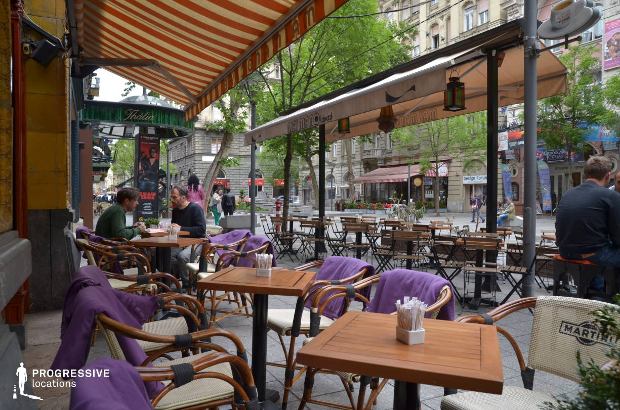 Locations in Hungary: Terrace, Mano Cafe