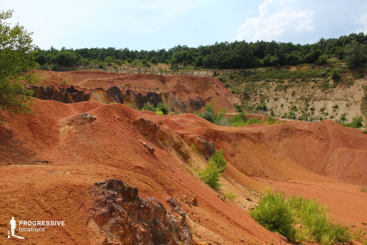 Locations in Hungary: Red Rock Bauxit Mine, Gant