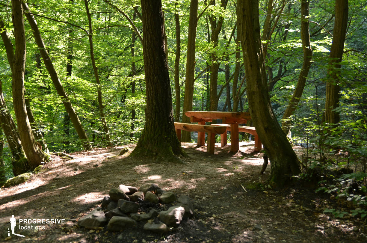 Locations in Hungary: Picnic Bench, Visegrad Forest