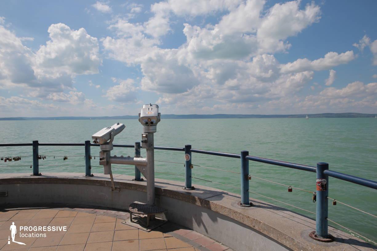 Locations in Hungary: Binoculars, Balaton