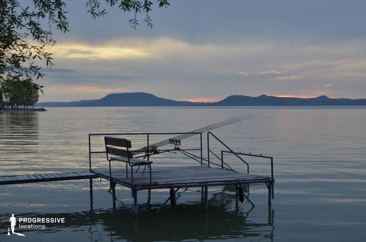 Locations in Hungary: Pier, Lake Balaton