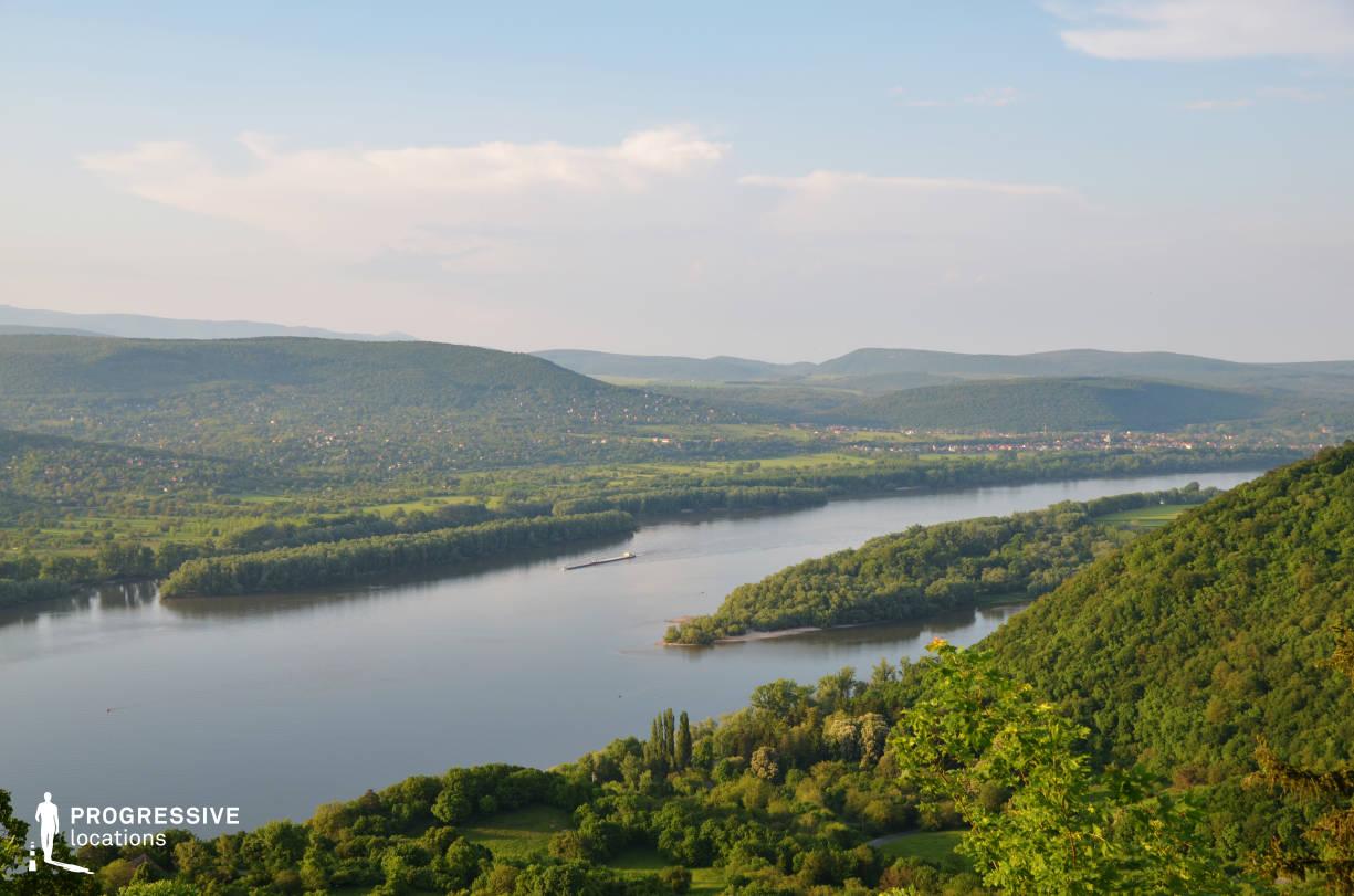Locations in Hungary: River Danube, Panorama %26 Visegrad Hill
