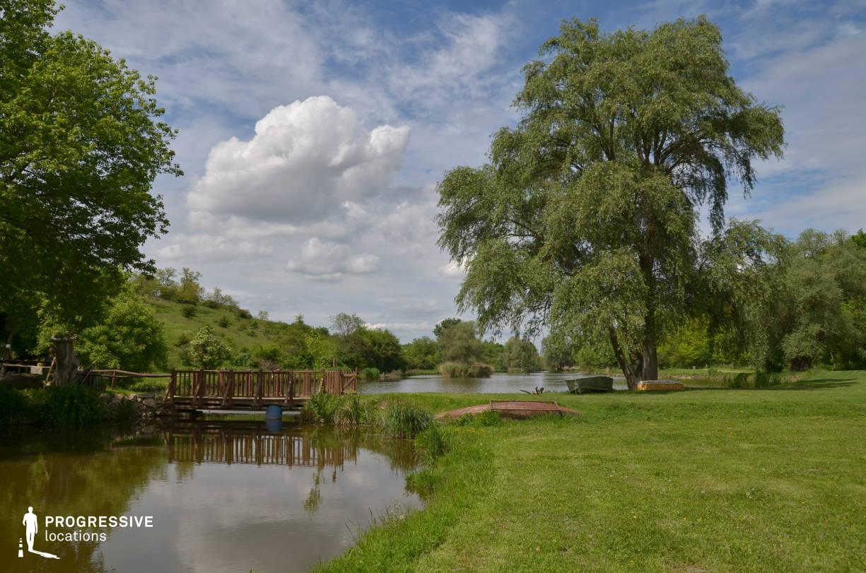 Locations in Hungary: Wooden Bridge, Etyek Lake